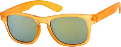 Angle of SW Kid's Retro Style #449 in Matte Orange Frame, Women's and Men's
