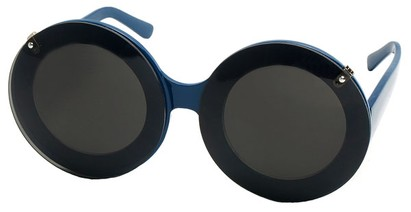 Angle of SW Celebrity Style #513 in Blue Frame with Clear Lenses, Women's and Men's