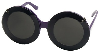 Angle of SW Celebrity Style #513 in Purple Frame with Clear Lenses, Women's and Men's