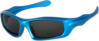 Angle of SW Kid's Polarized Style #803 in Blue Frame with Grey Lenses, Women's and Men's
