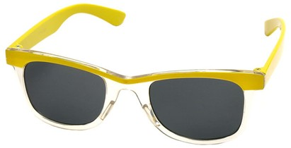Angle of SW Kid's Style #1404 in Yellow and Clear Frame, Women's and Men's