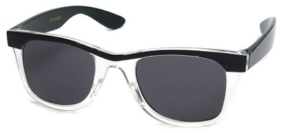 Angle of SW Kid's Style #1404 in Black and Clear Frame, Women's and Men's