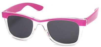 Angle of SW Kid's Style #1404 in Pink and Clear Frame, Women's and Men's