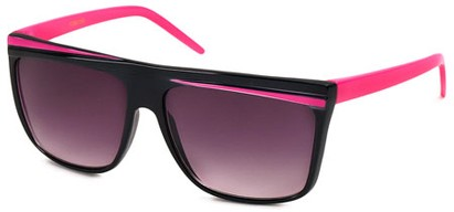 Angle of SW Retro Kid's Style #96 in Black and Pink Frame, Women's and Men's