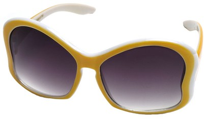 Angle of SW Kid's Butterfly Style #782 in Yellow Frame, Women's and Men's