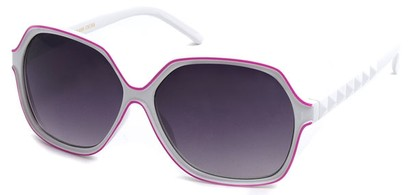 Angle of SW Kid's Style #12150 in White and Pink Frame, Women's and Men's