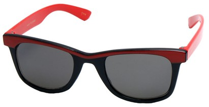 Angle of SW Kid's Retro Style #504 in Red and Black Frame, Women's and Men's