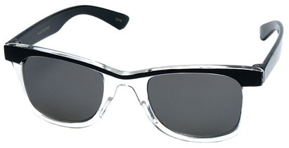 Angle of SW Kid's Retro Style #504 in Black and Clear Frame, Women's and Men's