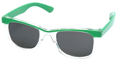 Angle of SW Kid's Retro Style #504 in Green and Clear Frame, Women's and Men's