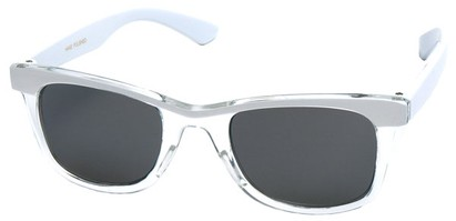 Angle of SW Kid's Retro Style #504 in White and Clear Frame, Women's and Men's