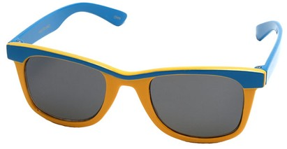 Angle of SW Kid's Retro Style #504 in Blue and Yellow Frame, Women's and Men's