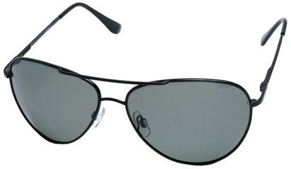 Angle of SW Polarized Aviator Style #2400 in Black Frame, Women's and Men's