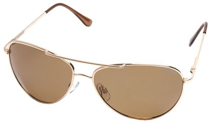 Angle of SW Polarized Aviator Style #2400 in Gold Frame with Gold Lenses, Women's and Men's