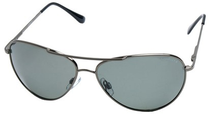 Angle of SW Polarized Aviator Style #2400 in Grey Frame, Women's and Men's