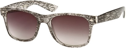 Angle of SW Lace Retro Style #9132 in Black Frame, Women's and Men's