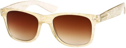 Angle of SW Lace Retro Style #9132 in Gold Frame, Women's and Men's