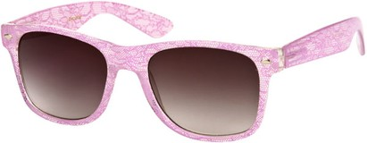 Angle of SW Lace Retro Style #9132 in Light Pink Frame, Women's and Men's