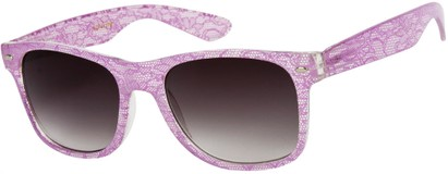 Angle of SW Lace Retro Style #9132 in Light Purple Frame, Women's and Men's