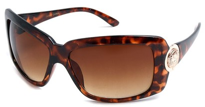 Angle of SW Oversized Style #39819 in Tortoise Frame, Women's and Men's