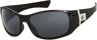 Angle of SW Fashion Style #9702 in Black Frame, Women's and Men's