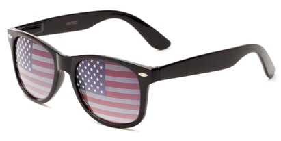 Angle of Liberty #811 in Black Frame, Women's and Men's Retro Square Sunglasses
