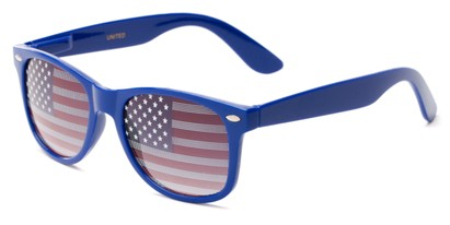 Angle of Liberty #811 in Blue Frame, Women's and Men's Retro Square Sunglasses