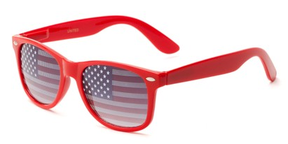 Angle of Liberty #811 in Red Frame, Women's and Men's Retro Square Sunglasses
