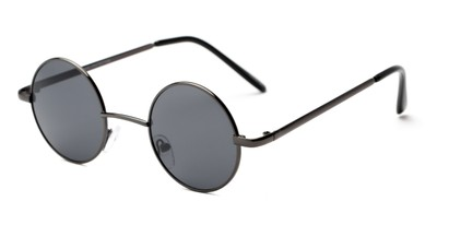 Angle of London #1707 in Grey Frame with Grey Lenses, Women's and Men's Round Sunglasses