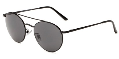 Angle of Fitzroy #1429 in Black Frame with Smoke Lenses, Women's and Men's Aviator Sunglasses