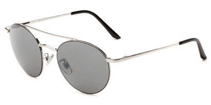 Angle of Fitzroy #1429 in Silver Frame with Grey Lenses, Women's and Men's Aviator Sunglasses