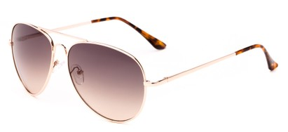 Angle of Sail #2301 in Gold/Tortoise Frame with Smoke Lenses, Women's and Men's Aviator Sunglasses