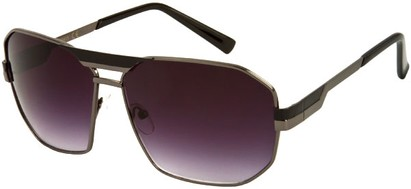 Angle of SW Retro Aviator Style #34 in Grey and Black Frame with Smoke Lenses, Women's and Men's