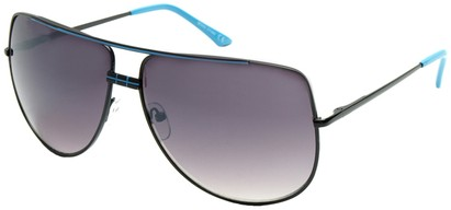 Angle of SW Aviator Style #3456 in Black and Blue Frame, Women's and Men's