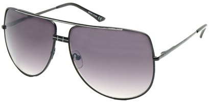Angle of SW Aviator Style #3456 in Black and Silver Frame, Women's and Men's