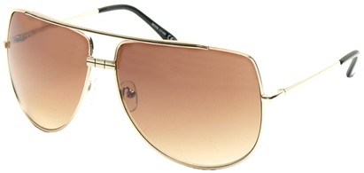 Angle of SW Aviator Style #3456 in Gold Frame, Women's and Men's