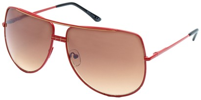Angle of SW Aviator Style #3456 in Red Frame, Women's and Men's