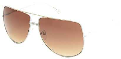 Angle of SW Aviator Style #3456 in White Frame, Women's and Men's