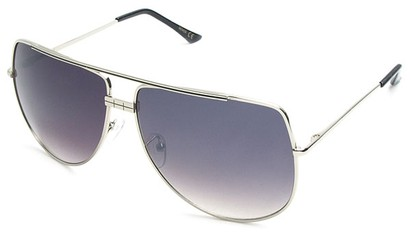 Angle of SW Aviator Style #3456 in Silver Frame, Women's and Men's
