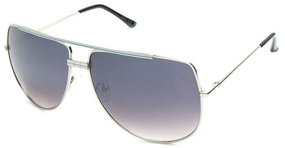 Angle of SW Aviator Style #3456 in Silver and Blue Frame, Women's and Men's