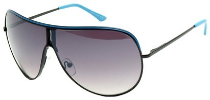 Angle of Fuji #61 in Black and Blue Frame, Women's and Men's Aviator Sunglasses