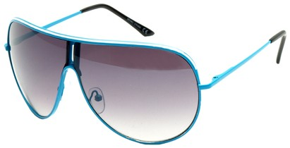Angle of Fuji #61 in Blue Frame, Women's and Men's Aviator Sunglasses