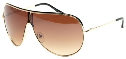 Angle of Fuji #61 in Gold Frame, Women's and Men's Aviator Sunglasses
