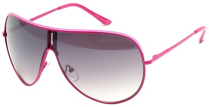 Angle of Fuji #61 in Pink Frame, Women's and Men's Aviator Sunglasses
