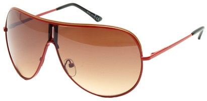 Angle of Fuji #61 in Red Frame, Women's and Men's Aviator Sunglasses