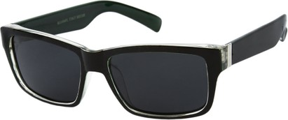 Angle of Tenby #13494 in Black and Green Frame, Women's and Men's Square Sunglasses