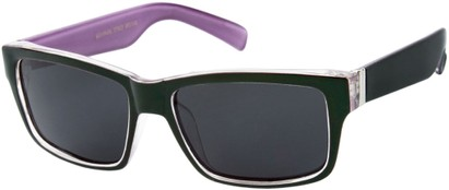Angle of Tenby #13494 in Green and Purple Frame, Women's and Men's Square Sunglasses