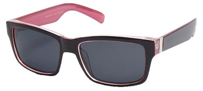 Angle of Tenby #13494 in Red and Pink Frame, Women's and Men's Square Sunglasses