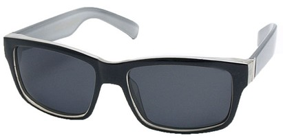 Angle of Tenby #13494 in Black and Grey Frame, Women's and Men's Square Sunglasses