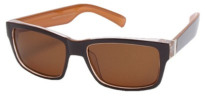 Angle of Tenby #13494 in Brown and Orange Frame, Women's and Men's Square Sunglasses