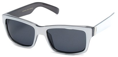 Angle of Tenby #13494 in White and Black Frame, Women's and Men's Square Sunglasses